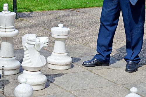 Schach mit großen Figuren Spiele