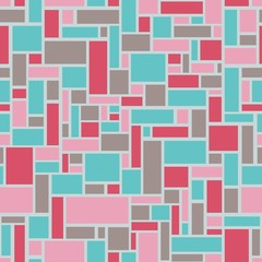 Mosaic seamless from rectangles - vector illustration