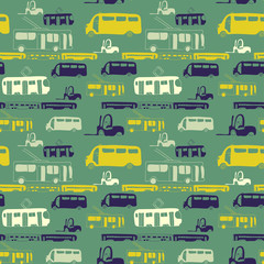 green bus pattern