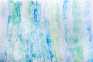 Abstract blue green watercolor background