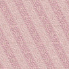 Vector decorative ornamental geometric pastel background with rhombus in pink colors. Series of Seamless Geometrical Ornamental Patterns.