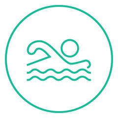 Swimmer line icon.