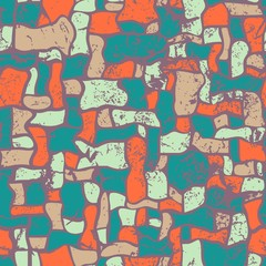Mosaic, abstract seamless vector illustration. Grunge