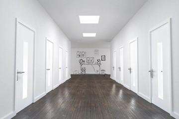 Doodle office in hallway