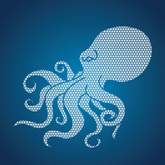 Octopus designed using line geometric pattern graphic vector.