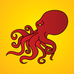 Octopus graphic vector.