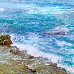 Printed kitchen splashbacks Zanzibar background of ocean waters and coastal stones