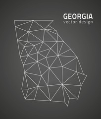 Georgia outline map, USA state