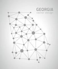 Georgia contour map, America