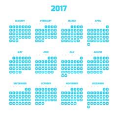 Modern style calendar for 2017