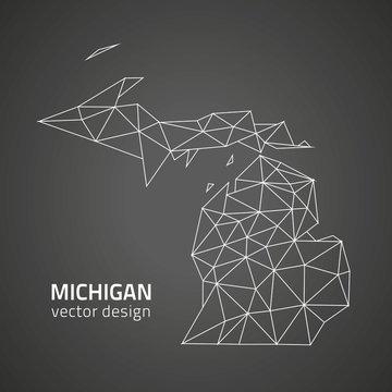 Michigan contour vector map