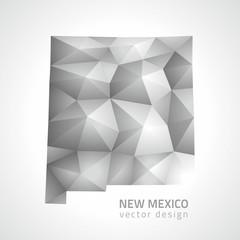 New Mexico  vector polygonal silver map
