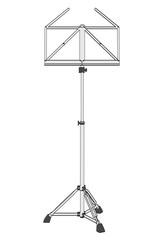 2d cartoon illustration of music stand