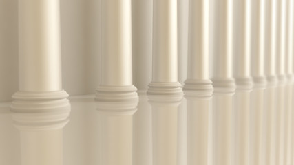 White architectural background with a classic interior