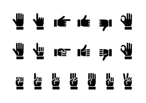手 指 イラスト アイコン 黒