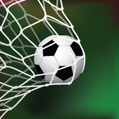 Soccer / Football Goal. Vector Illustration. Realistic Background