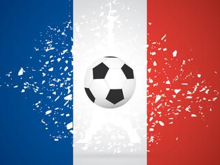 France Soccer / Football Background. Vector Illustration