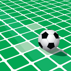 Abstract football background with respective square