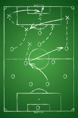 Soccer tactic table. Vector illustration.