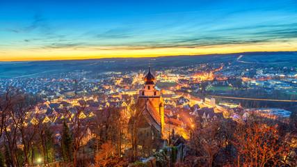 Fototapete - Herrenberg, Germany. Shot as High Dynamic Range.
