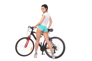 sexy girl with a bike