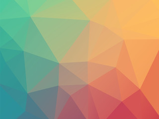 low poly pastel blue red background