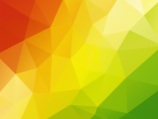 colorful geometric background red yellow green Wall mural