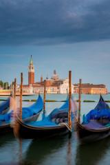 Blick nach San Giorgio Maggiore am Abend, Venedig