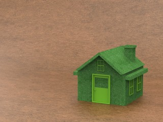green house on brown background