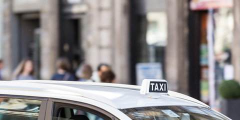 Italian taxi car outdoor
