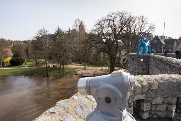 view from the old lahn bridge wetzlar germany