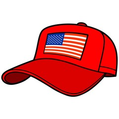 Baseball Cap with US Flag