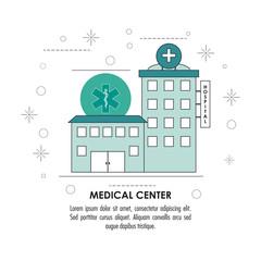 Medical center illustration , vector illustration