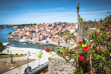Panorama of Porto Old Town and Duoro river. Portugal