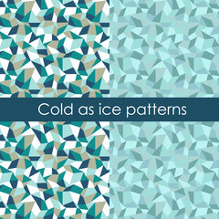 Set of two cold as ice patterns