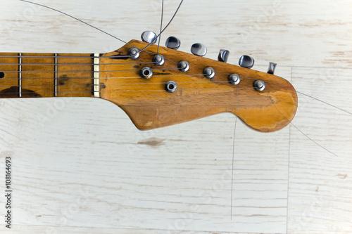 vintage guitar headstock