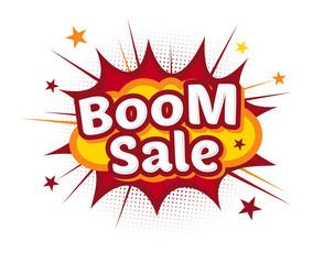 Comic Boom Sale Bang Cartoon Exsplosion