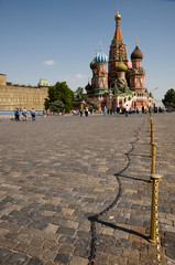 Cobble Path in Saint Basil's Cathedral - Red Square - Moscow