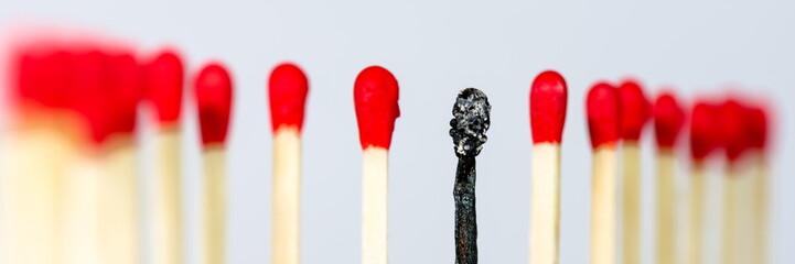 Burnout, symbolisch dargestellt