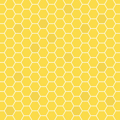 Honeycomb yellow colored grid stylish abstract background