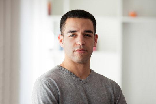 Young latin American man portrait