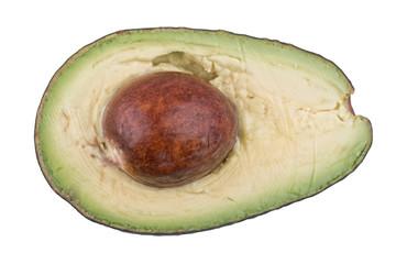 Avocado on a white background