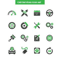 Car Services icon set, Car maintenance graphic vector set
