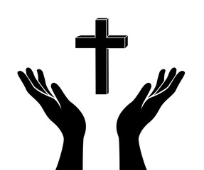 hands and cross sign