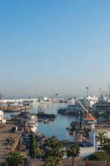 The Casablanca port in the morning time