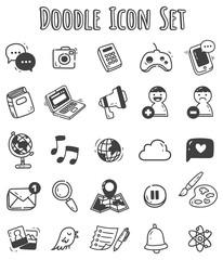 Doodle icon set