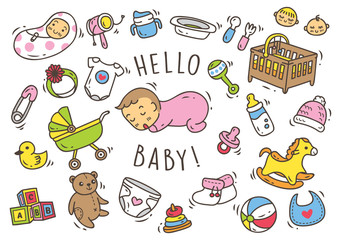 Baby toys and accessories doodle