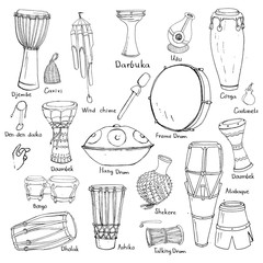 drum sketches with names