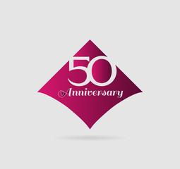50 years anniversary Template logo