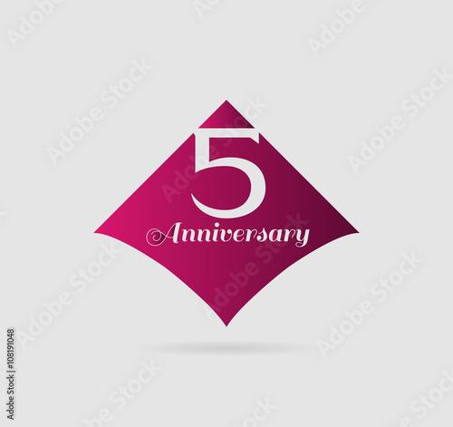 Template Logo 5th Anniversary 5 Years Anniversary Logo Stock